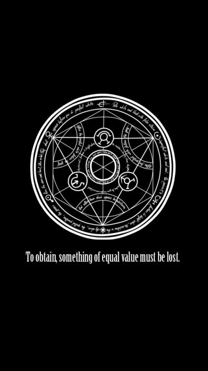 Edward Elric Quote Phone Wallpaper Fullmetal Alchemist Wallpaper Tumblr