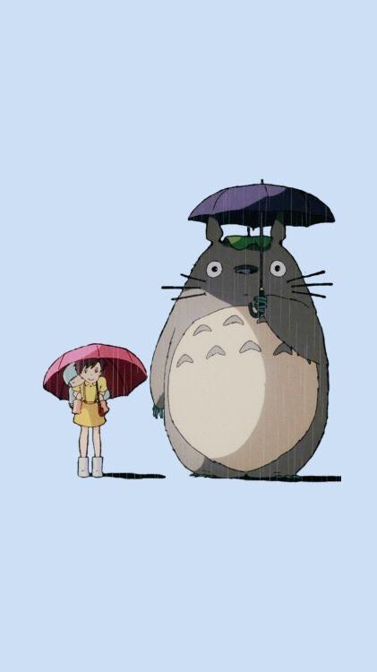 Ghibli Wallpaper Iphone Totoro Lockscreen Tumblr