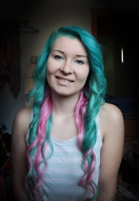 two colored hair on Tumblr