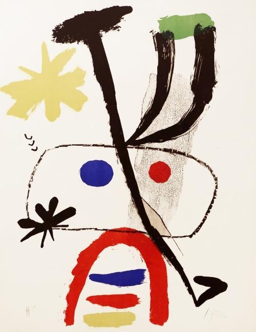 tumblr_p92thjOyRK1qfc4xho1_500 Joan Miró, Personatge amb estrelles, 1950 Polígrafa Obra Gràfica Contemporary