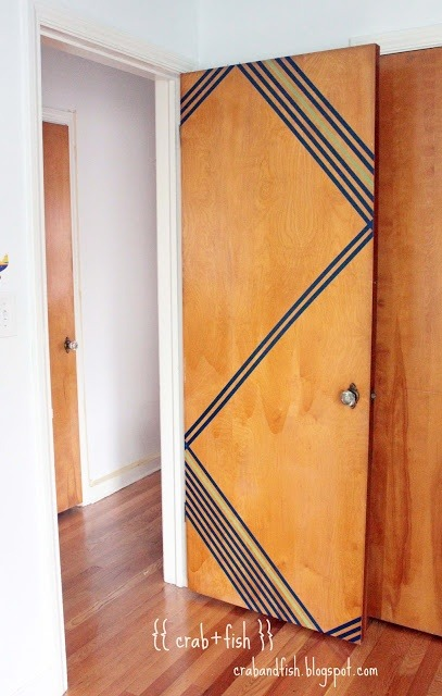 fyeahcooldormrooms: Washi Tape Geometric Door...