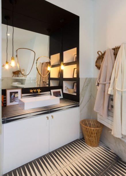 Baño con glamour en París