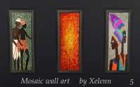 Xelenn  Mosaic wall art Download: Mosaic wall bust...