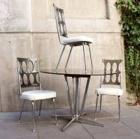 Set of 4 Mid Century Lucite Dining Chairs with ...