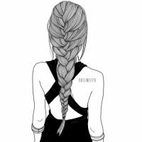 hair braid draw girl | Tumblr