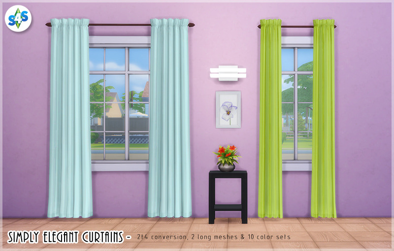 Saudade Sims Allisas Simply Elegant Curtains Theyre