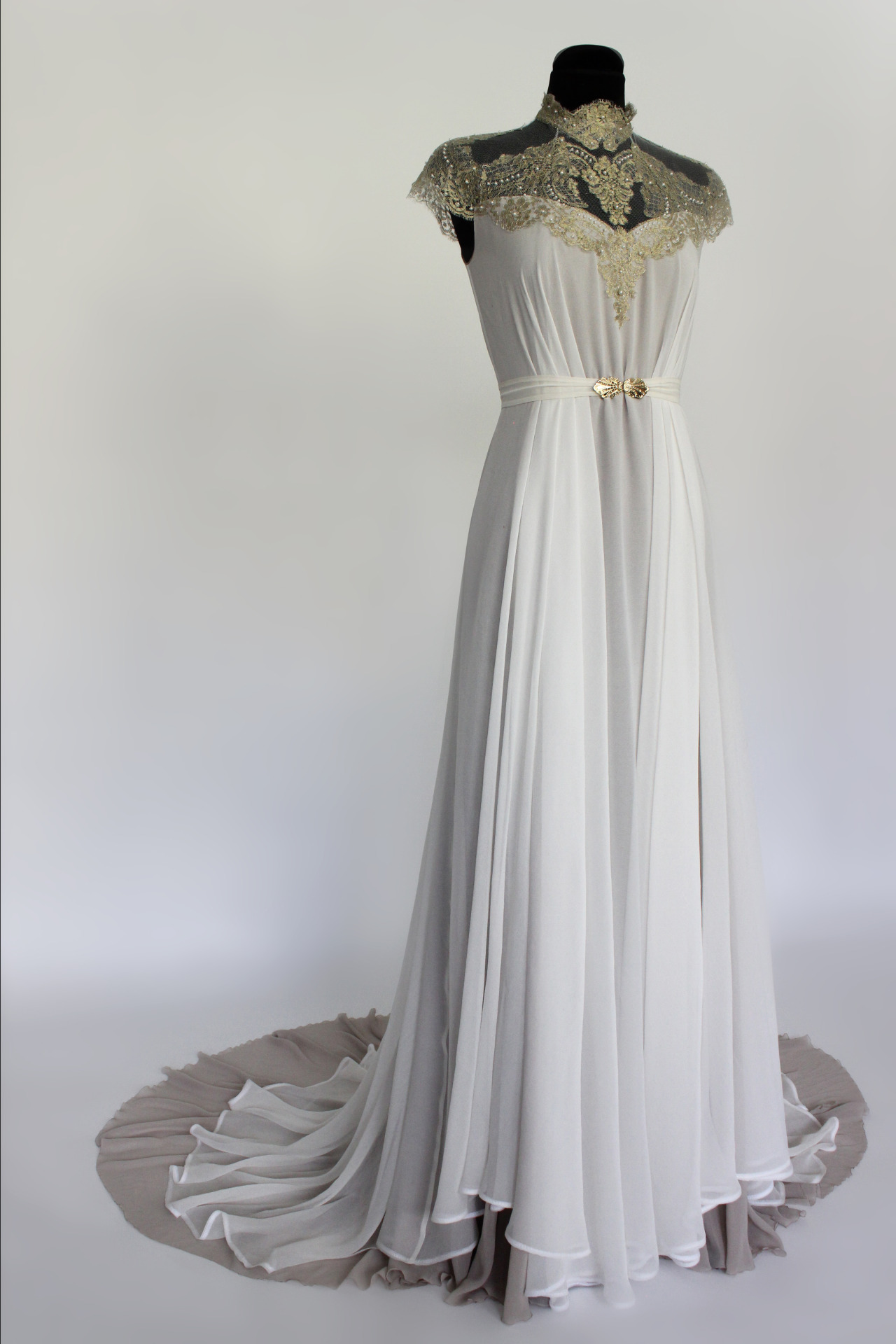 LINDA FRIESEN  Art Nouveau inspired wedding dress made