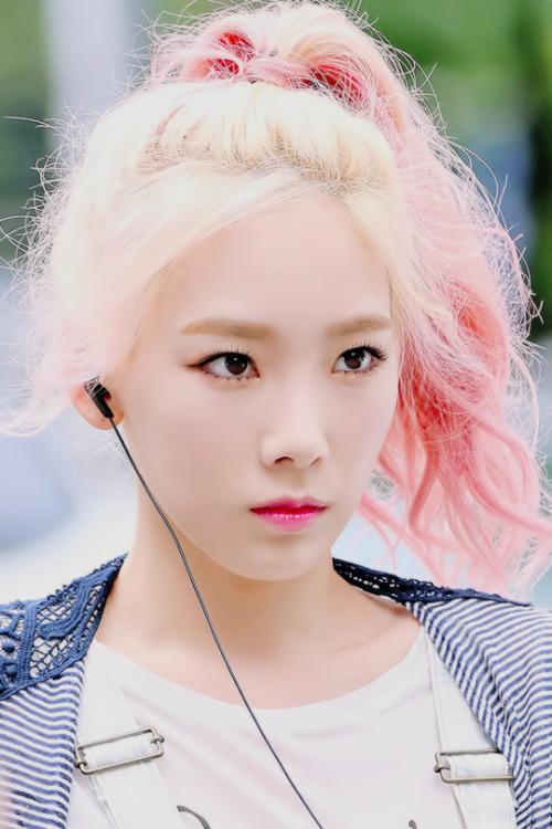 Taeyeon Blonde Hair Tumblr