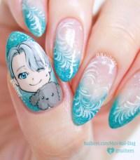 blue nail design | Tumblr