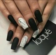 matte white nails