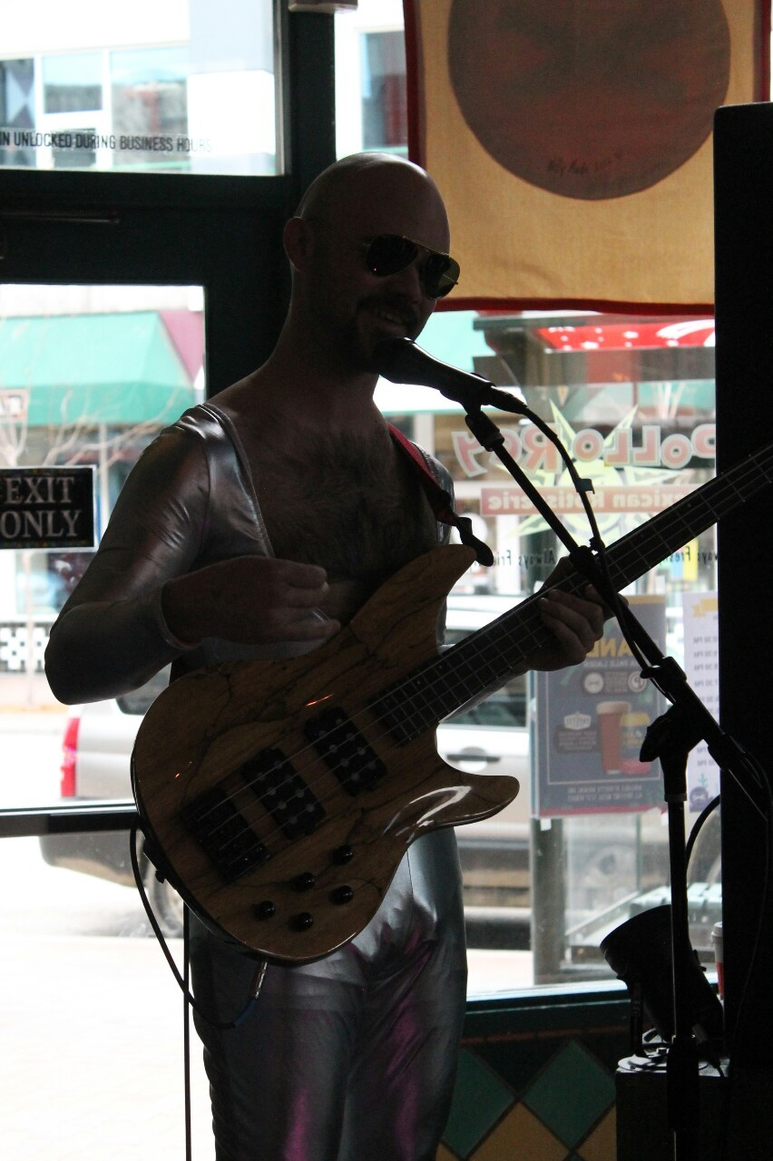 NUDE DUDE keeping it real at the Boise All-Ages Movement Project Pop-Up Venue.-lazharus