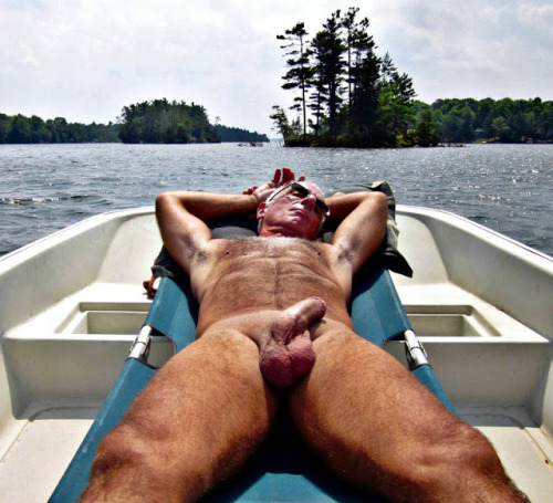 Put a dad on a boat, that penis is coming OUT immediately.