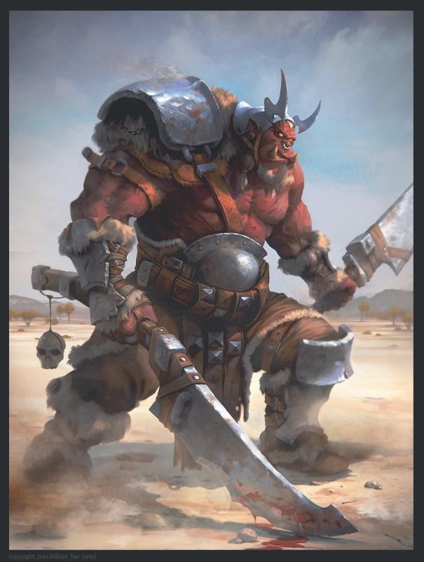 quarkmaster: Red orc Taejune Kim – Fantasy
