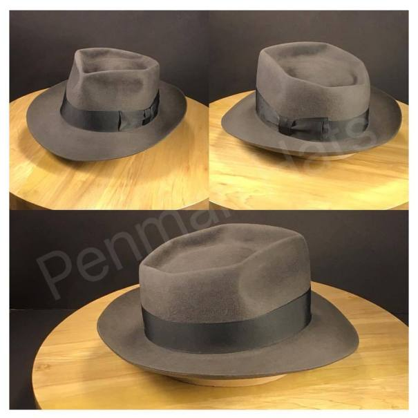 3afacc1470a Just finished this charcoal colored 6 point diamond with vintage black  grosgrain ribbon  penmanhats  OnlyPenman  bespoke  custommade  handmade  hat   hats ...
