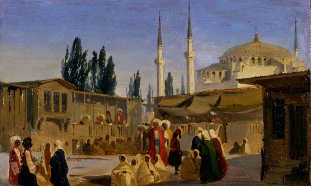 Ippolito Caffi Durante l800 si registra ad  Istanbul