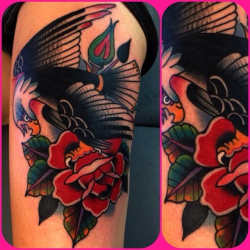 20 Eagles Rose Couples Tattoos Ideas And Designs
