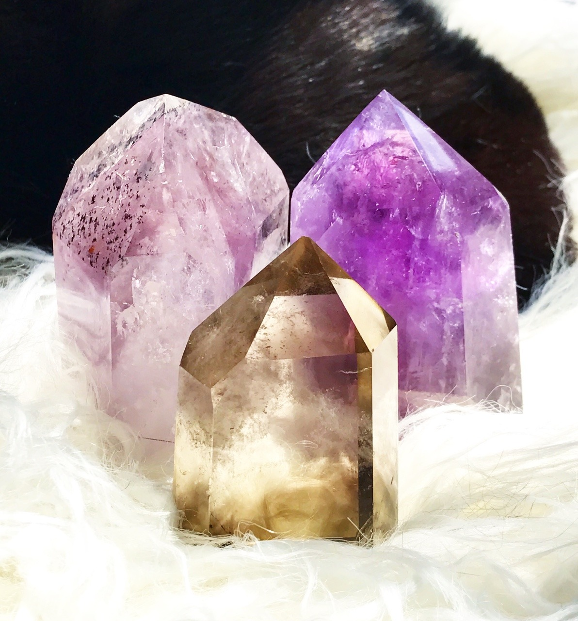 Natural Citrine and Amethyst