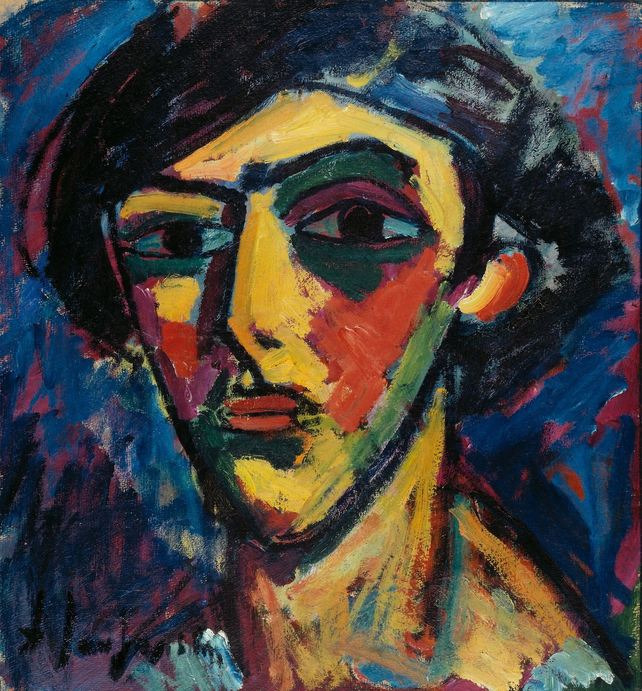 "amare-habeo: "" Alexej von Jawlensky (Russian-German, 1864-1941) Young man's head, 1911 Oil on cardboard """