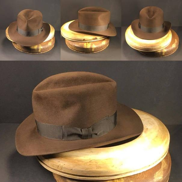 f4d39fdde99 Just finished this Indiana Jones and The Last Crusade hat.  penmanhats   OnlyPenman  bespoke  custommade  handmade  hat  hats  fedora  fedorahat   fedorahats ...