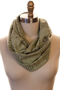 Literary scarves by storiarts on Etsy, including...
