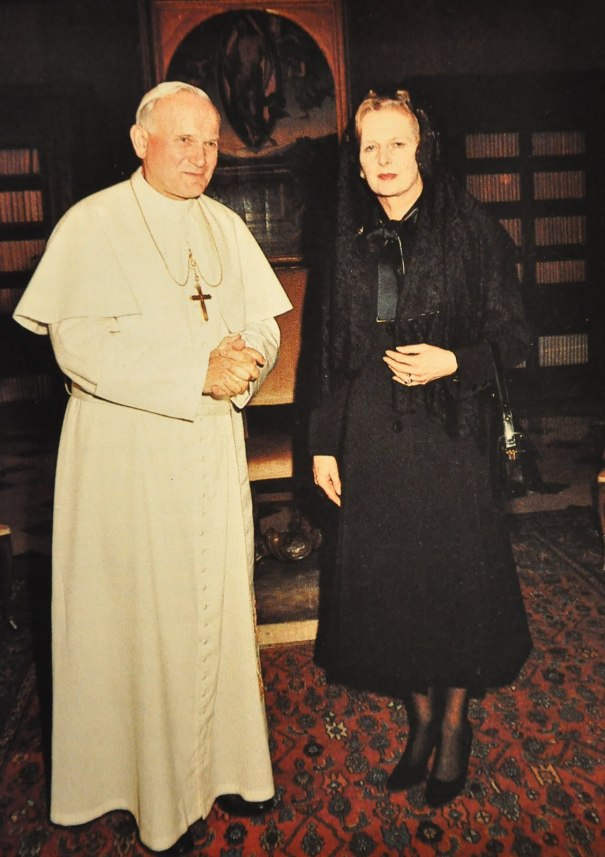 Pope John Paul II And Margaret Thatcher