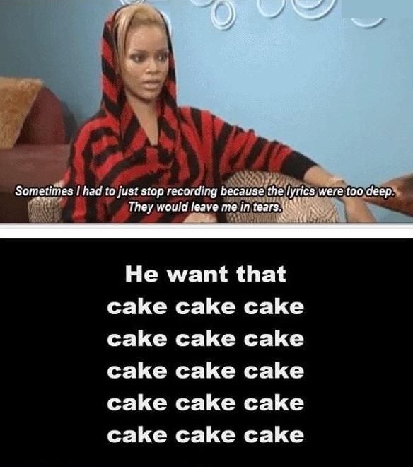 Rihanna Just Too Deep more funny memes meme blender on