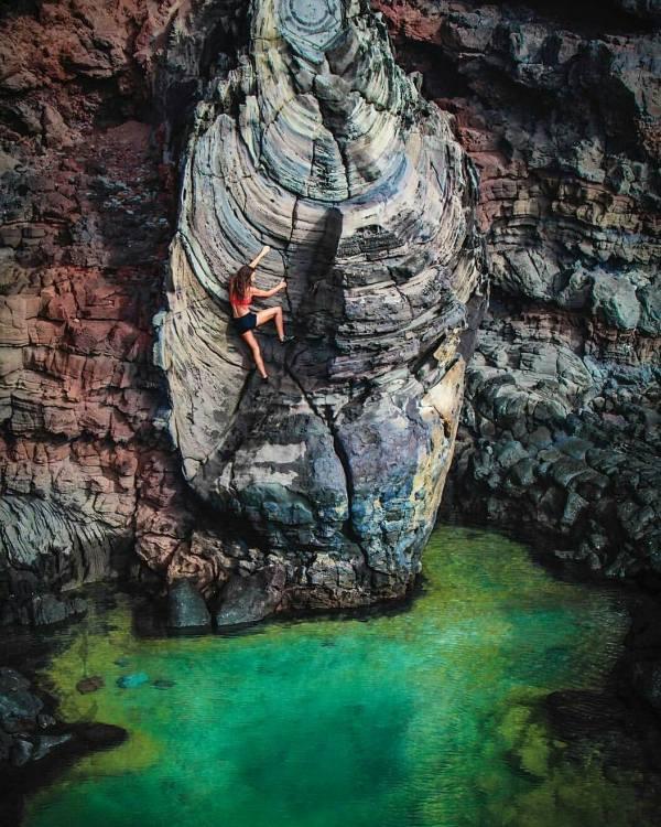 Water Rock Climbing Hawaii