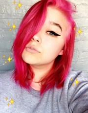 girls with pink hair