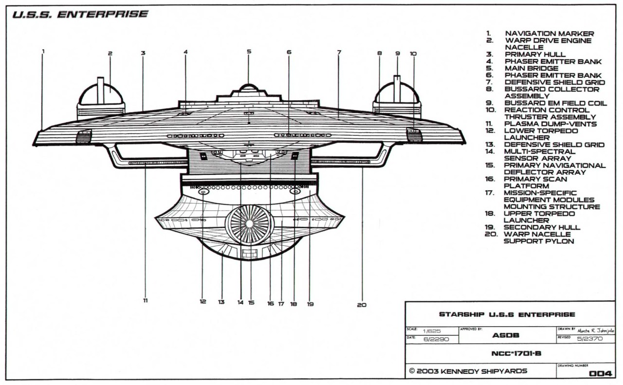 Starfleet ships — terriblegoodday: U.S.S. Enterprise-B