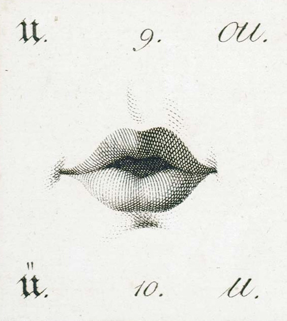 Design is fine. History is mine. — Position of the lips