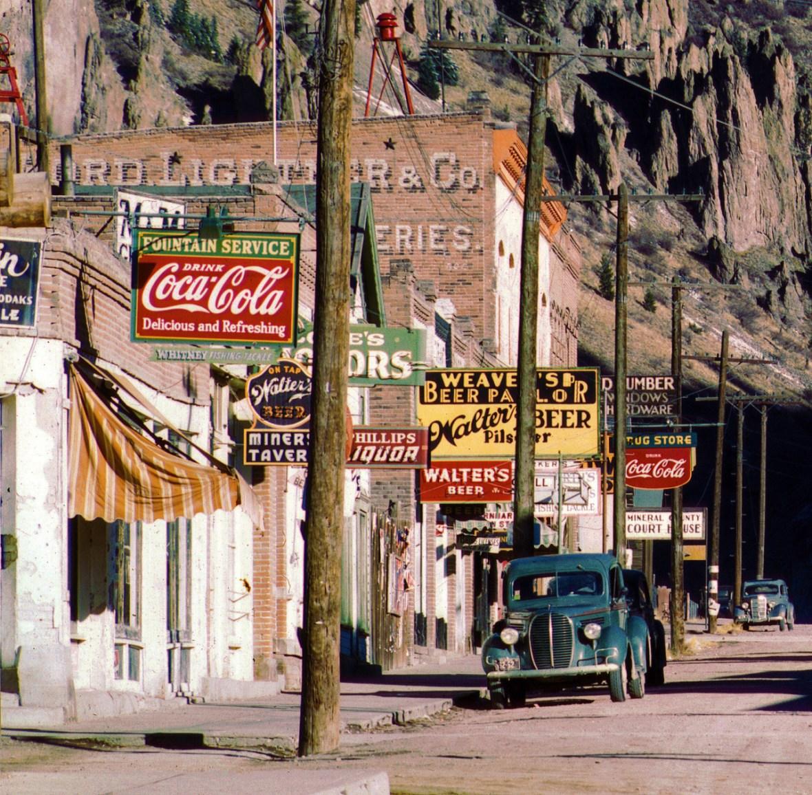 Main Street - Creede, Colorado U.S.A. - 1942