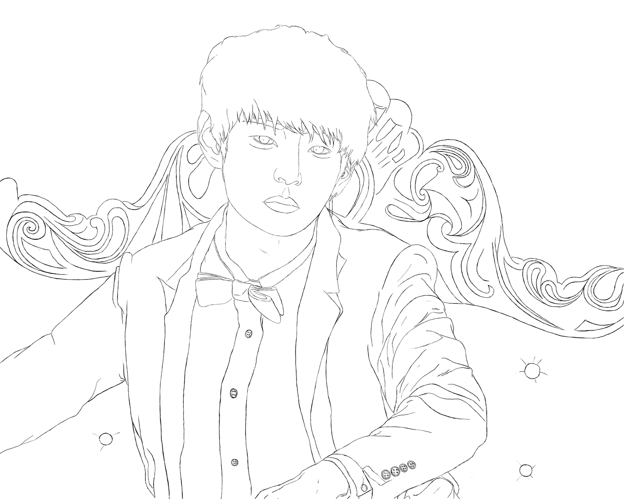 theuncreativeme — I'm finally able to post my two linearts