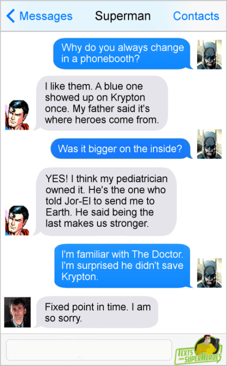 Texts from Superheroes Krypton Fixed Point