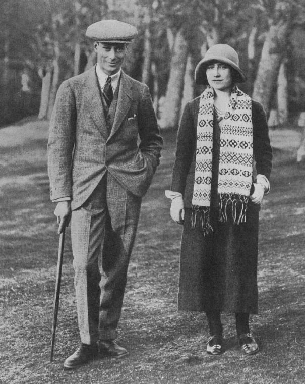 theroyalhistory:The Duke of York and Elizabeth Bowes-Lyon, 1923