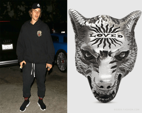 ab5d575a3524 Gucci Anger Forest Wolf Head Ring in Sterling … – Justin Bieber