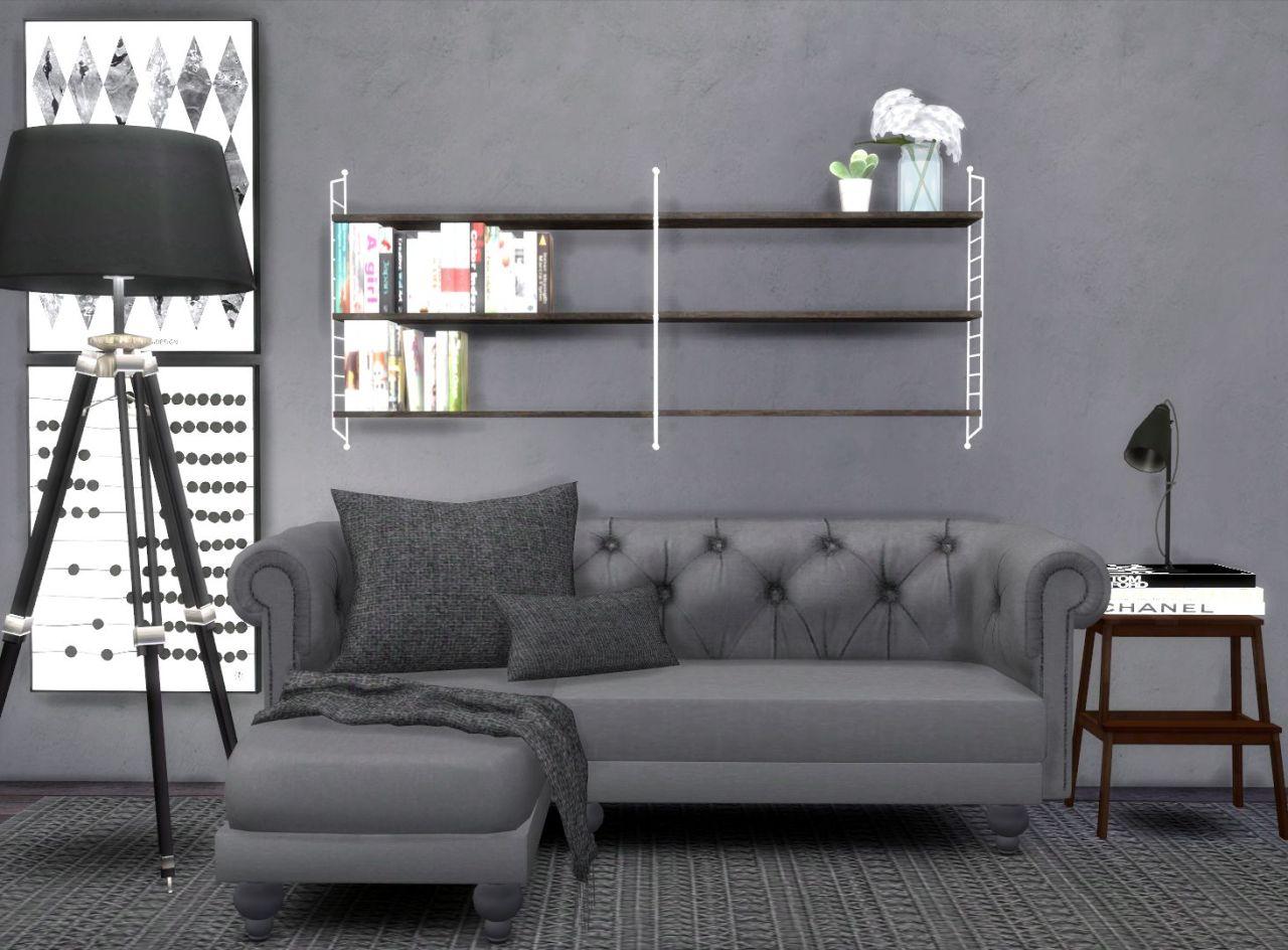 HVIKIS  Lisens String shelf converted by the lovely