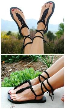 DIY Flip Flop Gladiator Sandals