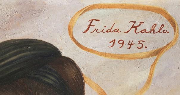 wonderwarhol: Signature of Frida Kahlo (1907-1… – Art