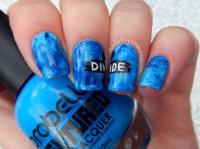 blue nail art design | Tumblr
