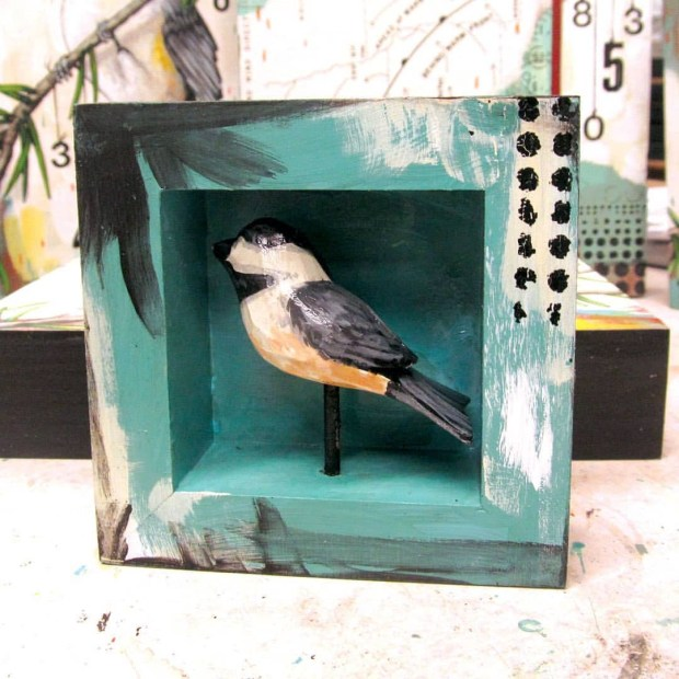 Here is the little home I made for that wood chickadee