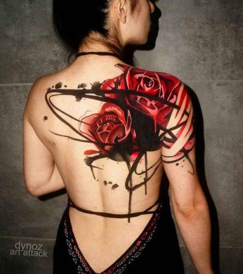 Big Rose Tattoo On Shoulder Blade Tattoo Best Tattoo Ideas