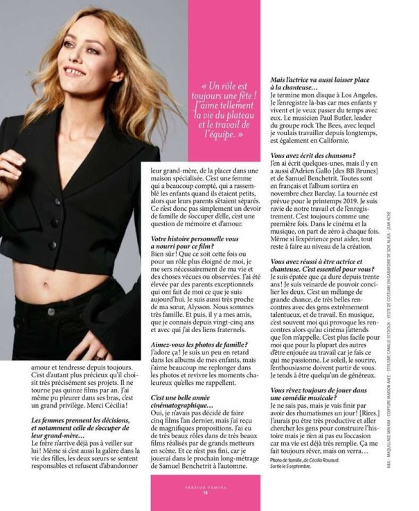 New Vanessa Paradis Interview She Talks About Johnny Depp