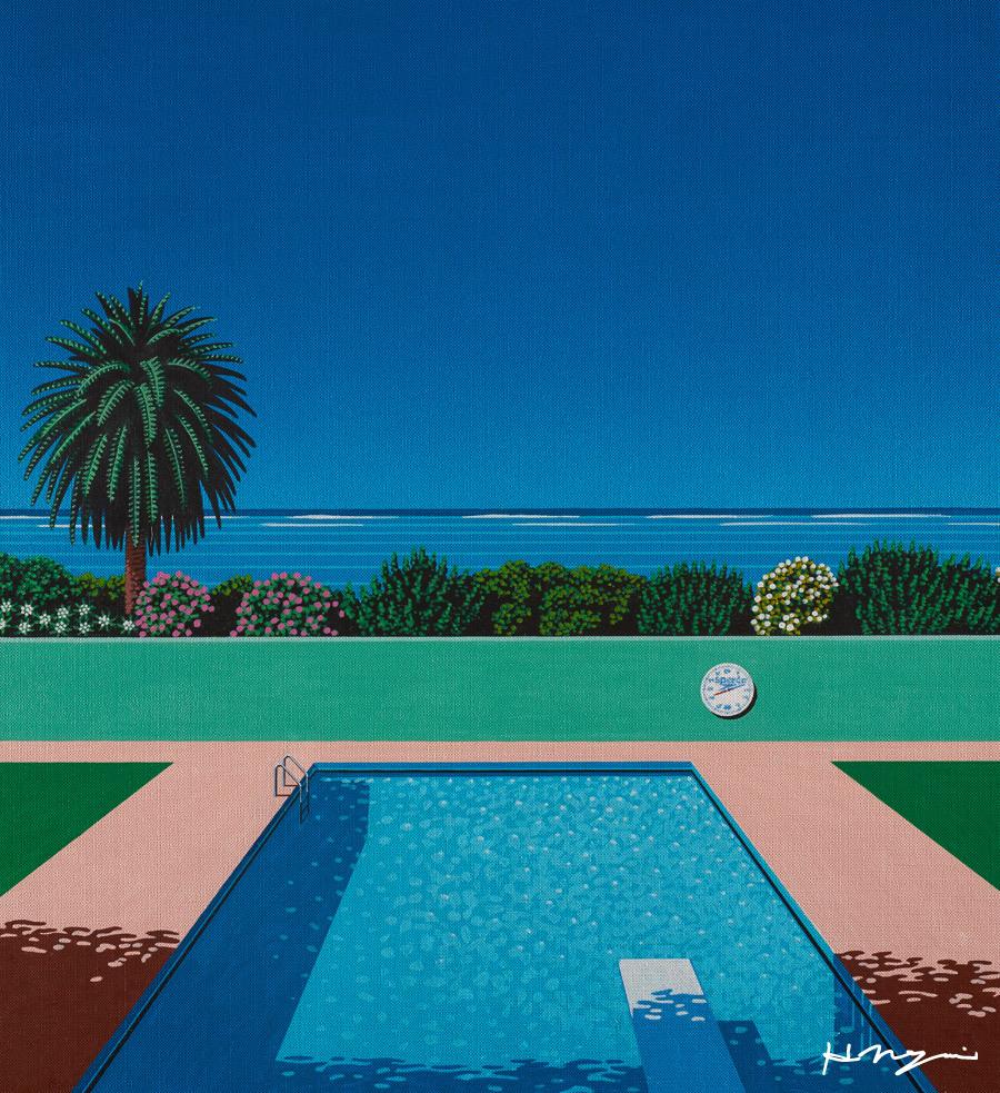 this isnt happiness Poolside Hiroshi Nagai Peteski
