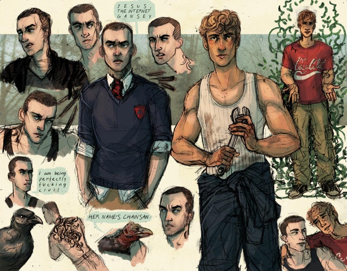 Adam, gansey, fan art