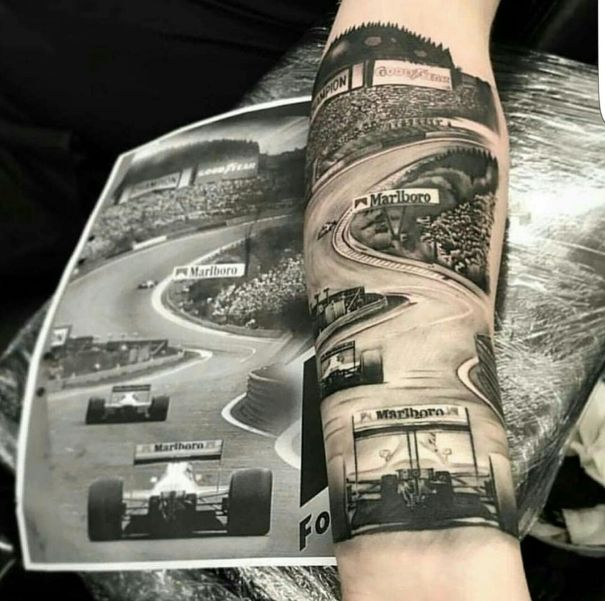 cheaper 2112a fb6f6 Amazing Eau Rouge Tattoo http   ift.tt 2Estf7z