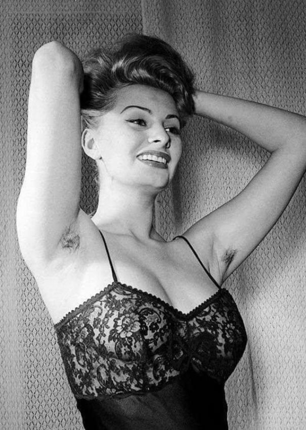 9850c964dd Sophia Loren can make even visible armpit hair seem sexy! – History