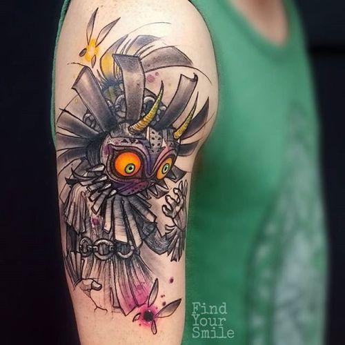 Majoras Mask Tattoo Tumblr