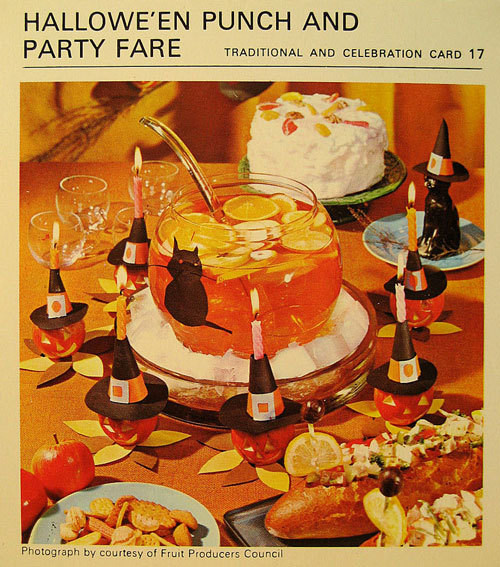 Halloween Party Punch And Fare 1960s Style