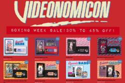 Boxing Day through New Year's Sale! Save 30% to 45% off all releases over at http://store.videonomicon.com now through January 1st, 2016! #Videonomicon #BoxingDay #NewYears #Sale #VHS #VHSCU #DVD