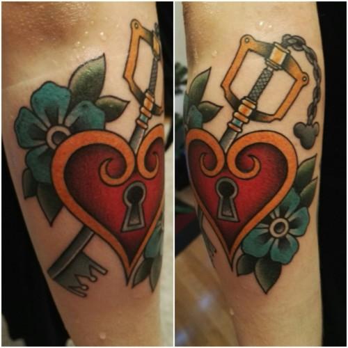 20 Keyblades Kingdom Hearts Tattoos Chest Ideas And Designs